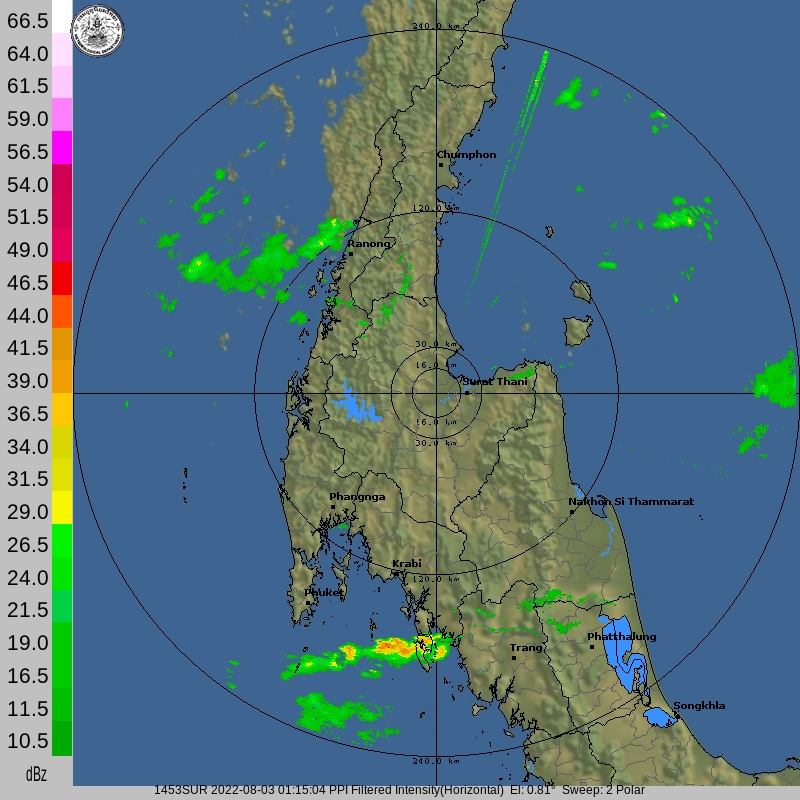 Thai Meteorological Department Surat Thani Weather Radar - latest image